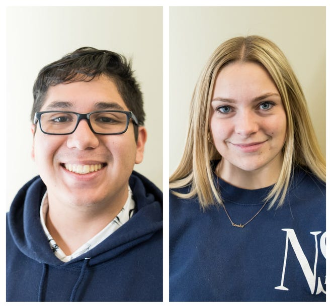 From left: Andrew Mendez and Taylor Avery. Both are interns for the Reno Gazette Journal.