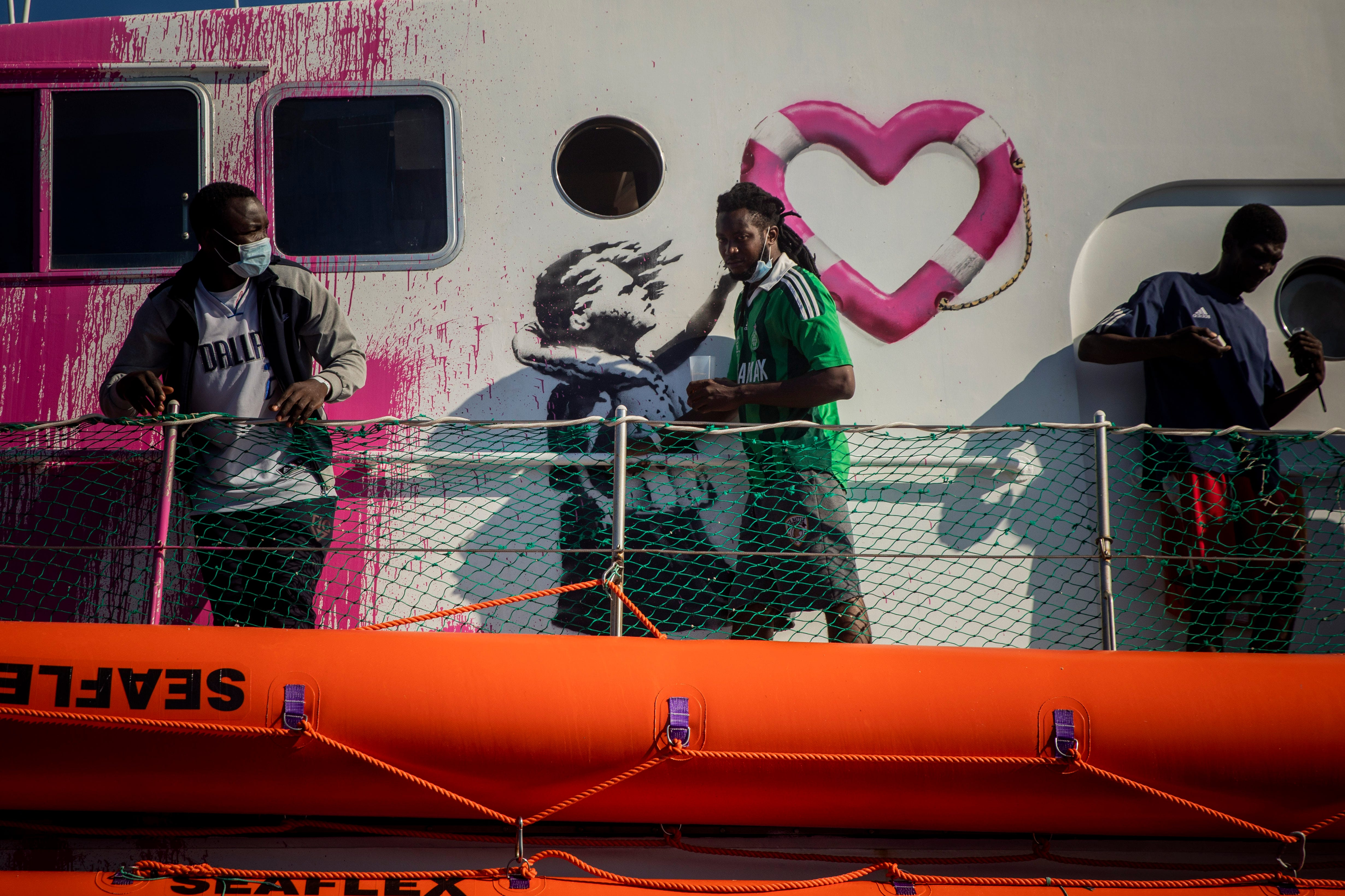 Banksy buys lifeboat to help migrants crossing the Mediterranean Sea:  All Black Lives Matter