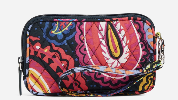 This zippered clutch will hold your phone, credit cards and more.