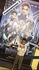 "In February 2018, Paul Perry Jr. displays the ""Wakanda Forever"" salute after seeing ""Black Panther"" in Phoenix, Arizona."