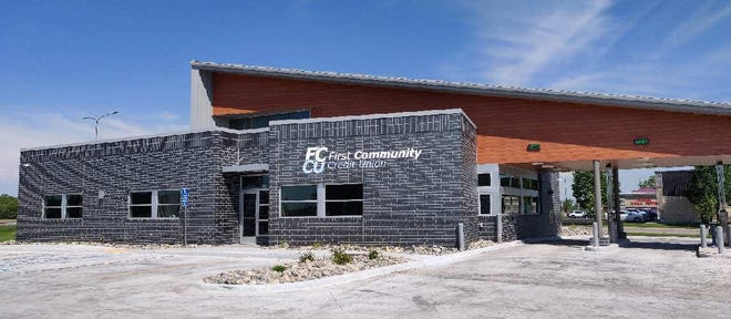 Crookston's new First Community Credit Union is located at the corner of University Avenue and Sahlstrom Drive.