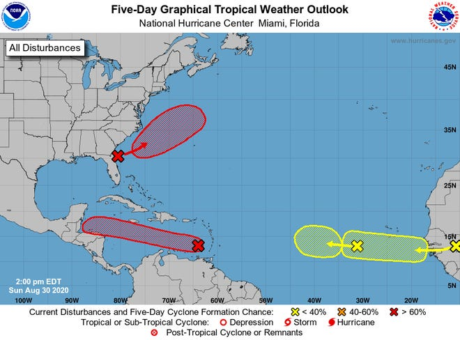 NHC 2 p.m. Tropical Weather Outlook