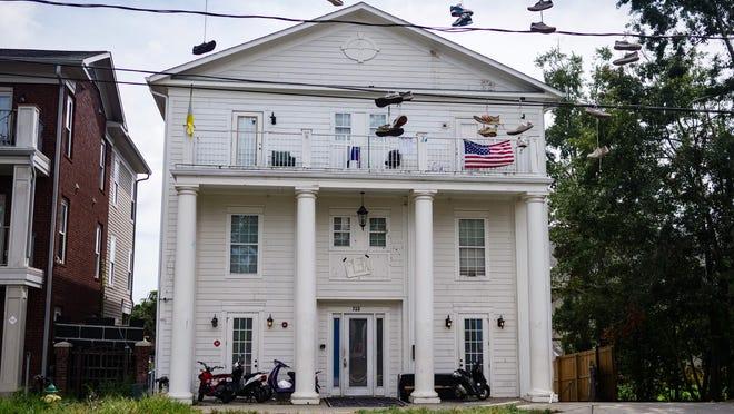 The Alpha Tau Omega house on West Pensacola Street.