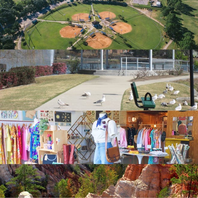 Featured activities include visiting Tom Brown Park, Lake Ella, the Railroad Square Arts District and Providence Canyon.