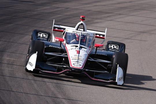 Josef Newgarden won Sunday's IndyCar race in St. Louis.