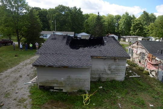 A bungalow on Caldwell Street caught fire overnight Sunday, resulting in no injuries.