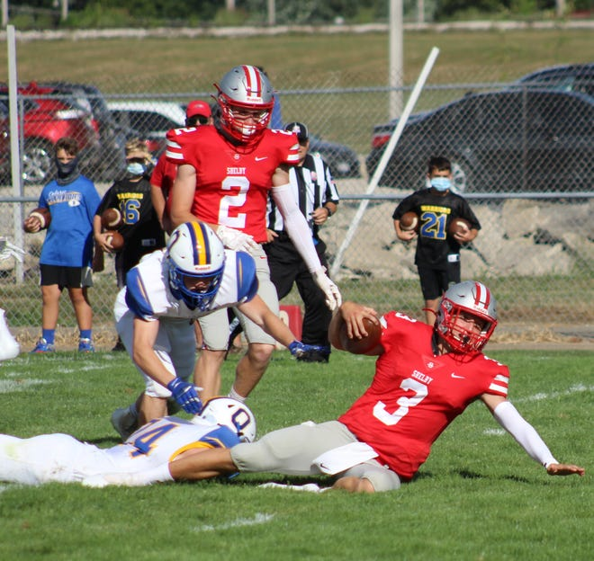 Shelby's Marshall Shepherd recorded more than 300 yards of total offense during the Whippets' 28-14 win over Ontario in Week 1.