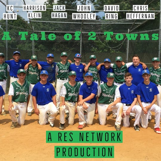 "The title screen for ""A Tale of 2 Towns"" a 10-part documentary series made my recent Ramapo graduates on their youth baseball careers."