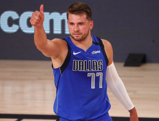 Luka Doncic is averaging 29.6 points, 10.0 rebounds and 8.6 assists in his first career playoff series.