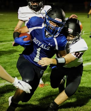Andrew Grover ran for 76 yards and one touchdown for the Colo-NESCO football team in a 42-7 loss to Iowa Valley to open the season Friday in Colo.