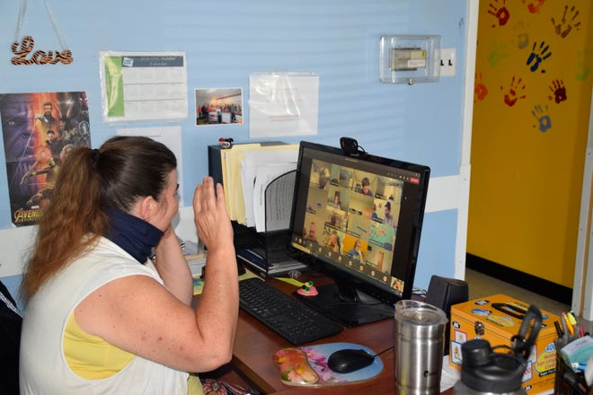 Clients are learning how to interact remotely, an important coping and life skill to have.