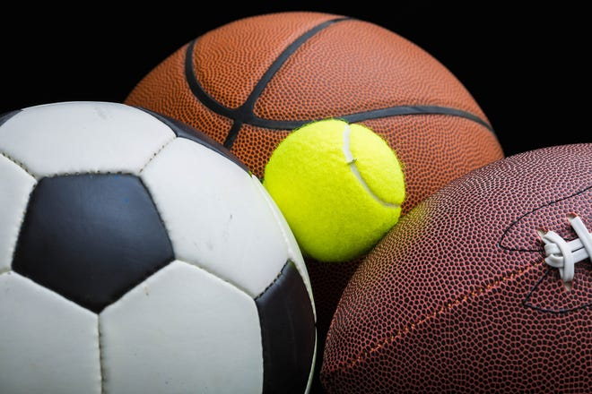 Soccer, basketball, tennis, football