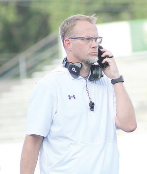 Second-year Bartlesville High School head football coach Jason Sport is focused on putting the best lineup possible on the field.