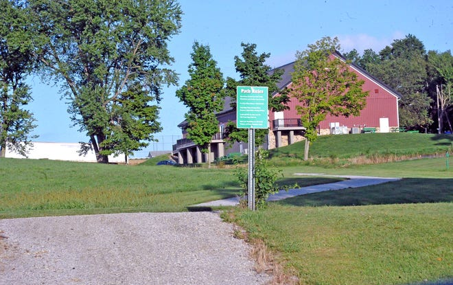 The new walking trail in East Union Township winds its way around the baseball fields and past the Apple Creek Historical Society. It connects with the trail built four years ago.