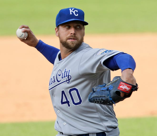 The Kansas City Royals traded relief pitcher Trevor Rosenthal to the San Diego Padres for outfield prospect Edward Olivares Saturday.