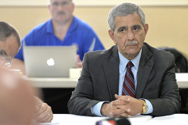 """Former city chief administrative officer Sam Mousa, shown here in a file photo during his time at City Hall, strongly objected to a Foley and Lardner attorney's contention that Mousa had """"crazy fees"""" in a contract with Florida Power and Light during the JEA sales process."""