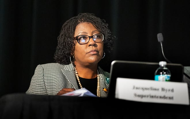 """Addressing community rumors of possibly reversing a May retirement announcement, Polk County Public Schools Superintendent Jacqueline Byrd told The Ledger in an email Monday: """"I submitted my letter and yes, I will be retiring."""" FILE PHOTO/THE LEDGER 2020"""