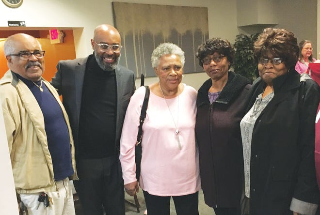 Four of the historic Oak Ridge-85 students at a recent music event: Larry Gipson (class of 1955), from left, Eric Dozier (musician), Deloise Mitchell (class of 1955), Emma McCaskill (class of 1955) and Mary Guinn (Class of 1955). Two events to mark the desegregation of Oak Ridge Schools are set for this Sunday, Sept. 6.