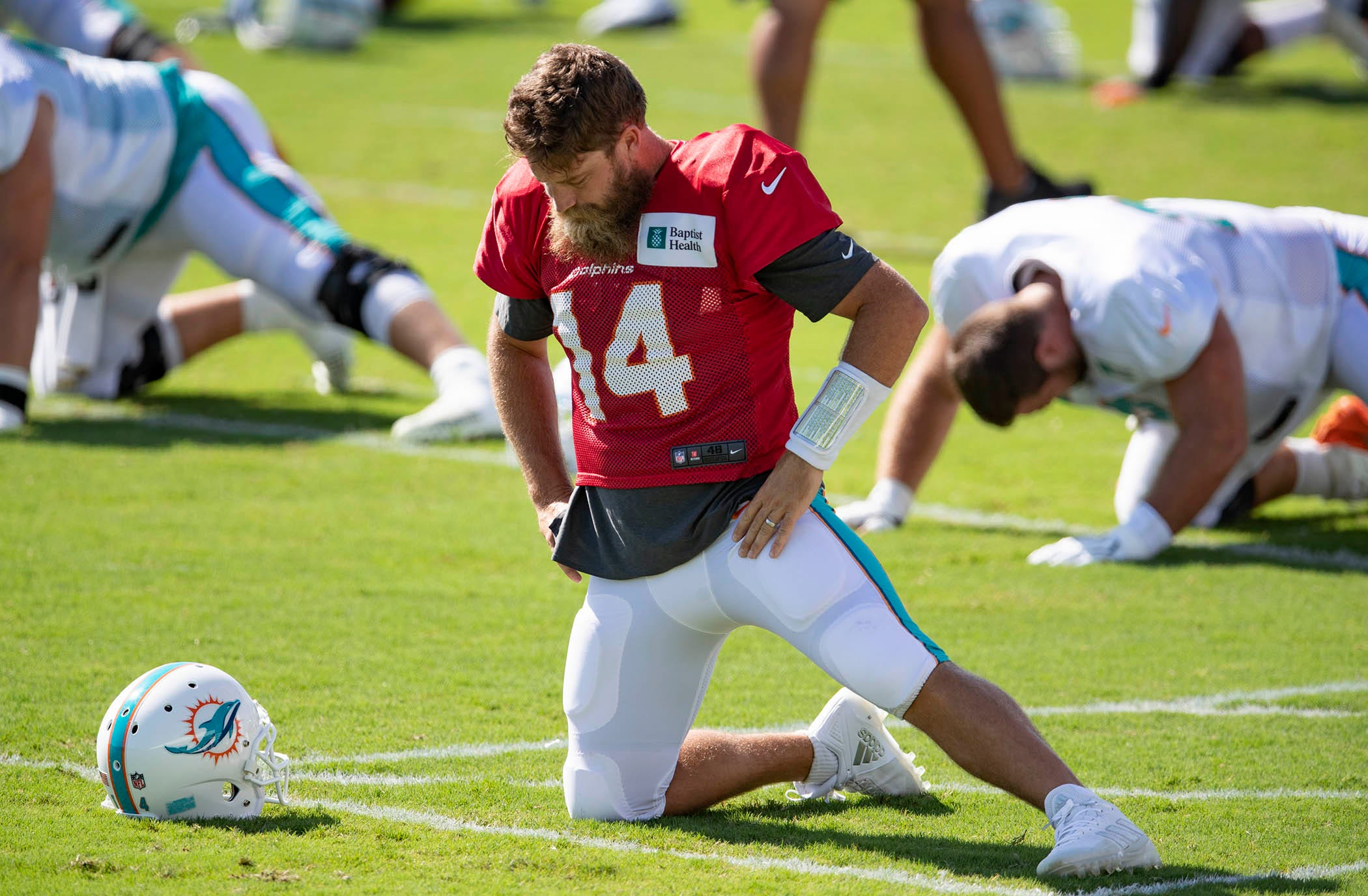 Dolphins QB Ryan Fitzpatrick on being benched for Tua Tagovailoa: 'My heart just hurt all day'