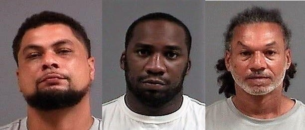 Dayomic Smith, left, Kanavis Davis and Joshua Cousins each face charges in the death of 51-year-old David W. Crostic last January.