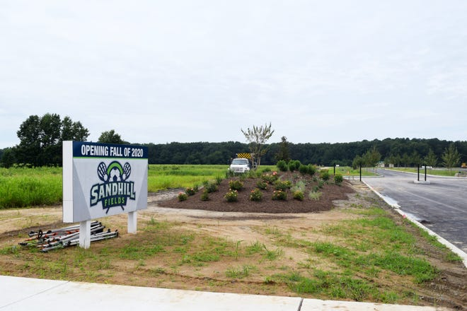 Sandhill Fields sports complex is getting the finishing touches for a Sept. 9 opening.