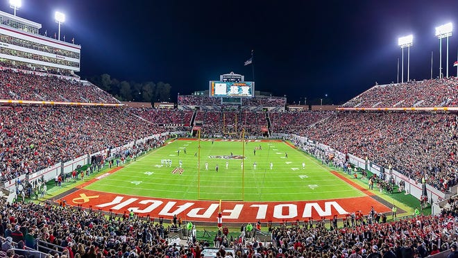 N.C. State's Carter-Finley Stadium will be empty for Sept. 26 season opener against Wake Forest due to COVID-19 restrictions. {Photo courtesy of N.C. State Athletics}