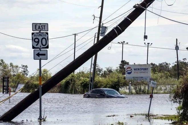 Orange, Texas, on Aug. 27. [Austin American-Statesman]