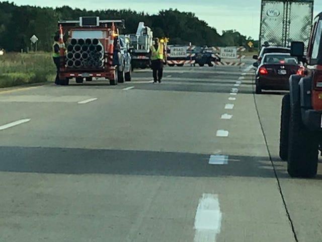 Scene of fatal I-69 crash.
