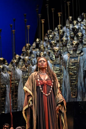 "Lisa Daltirus in Cincinnati Opera's 2007 production of ""AIDA."" Photo by Philip Groshong."