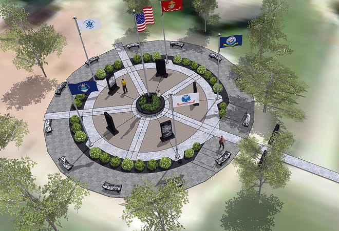 This is the concept for the Fairfield Township Veterans Memorial to be constructed in phases at Heroes Park.