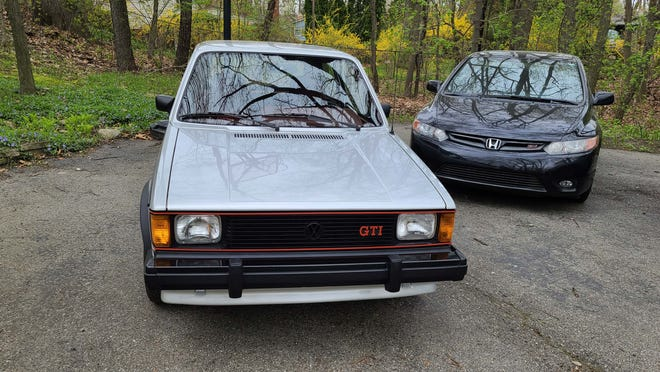 The 1984 VW Rabbit GTI inspired a wave of pocket rockets including the Honda Civic Si (right).
