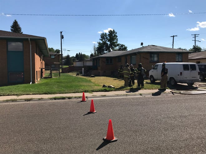 Firefighters responded to a blaze in a fourplex apartment on the city's eastside Sunday afternoon.