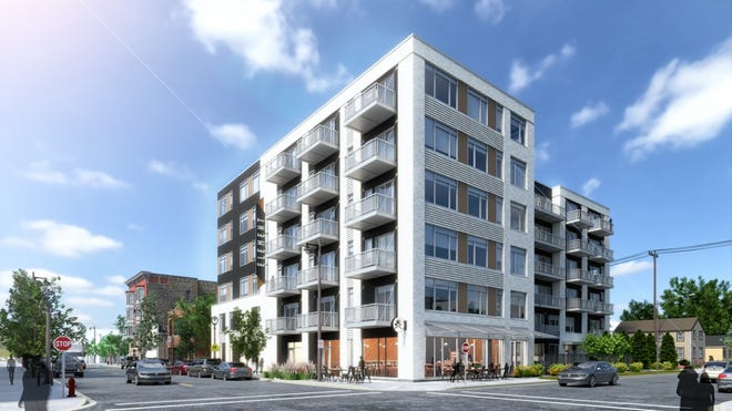 A six-story apartment building is being proposed for the northeast corner of South Fifth and West Mineral streets.