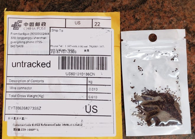 The New Mexico Department of Agriculture (NMDA) received reports beginning July 24 of New Mexico residents who have been mailed unsolicited foreign seeds not clearly labeled as seeds.