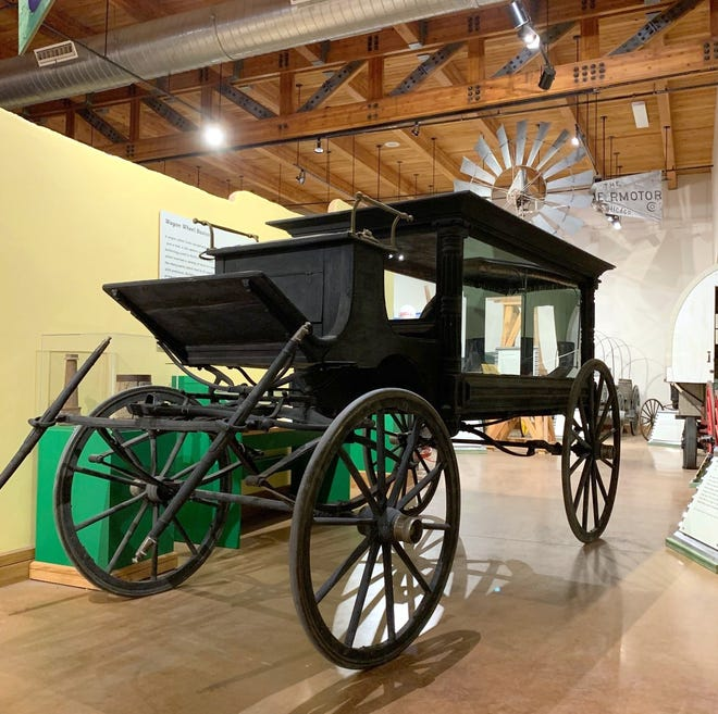 "The horse-drawn wagon is known by many as ""the Pat Garrett hearse"" or ""Pat Garrett's Last Ride"" because it likely delivered the famous lawman to his Las Cruces grave in 1908."