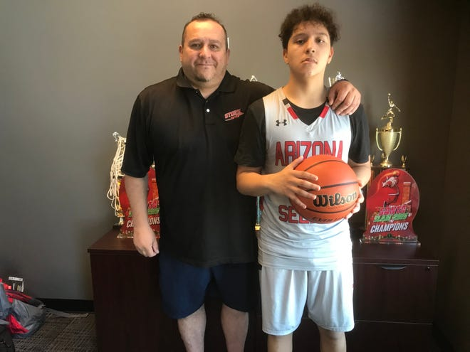 Peoria point guard Andrew Camacho has always felt a tie to his neighborhood with his father Martin setting an example of humility and loyalty. Photo by Richard Obert