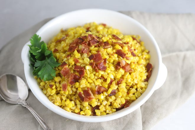 Fried corn has only five ingredients, including the all important bacon.
