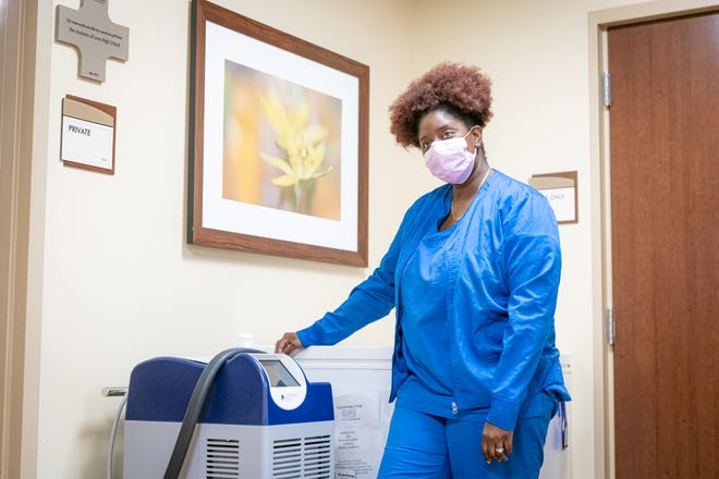 Tallahassee Memorial HealthCare introduces use of the DigniCap® Scalp Cooling System, to reduce the likelihood of chemotherapy-induced hair loss in cancer patients at the Tallahassee Memorial Cancer Center.