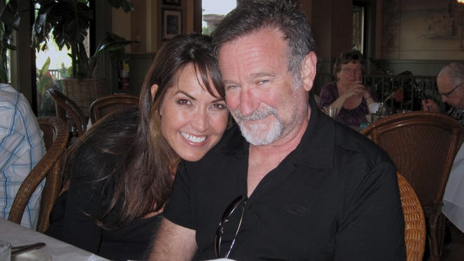 """Susan Schneider Williams and Robin Williams, as seen in """"Robin's Wish."""""""