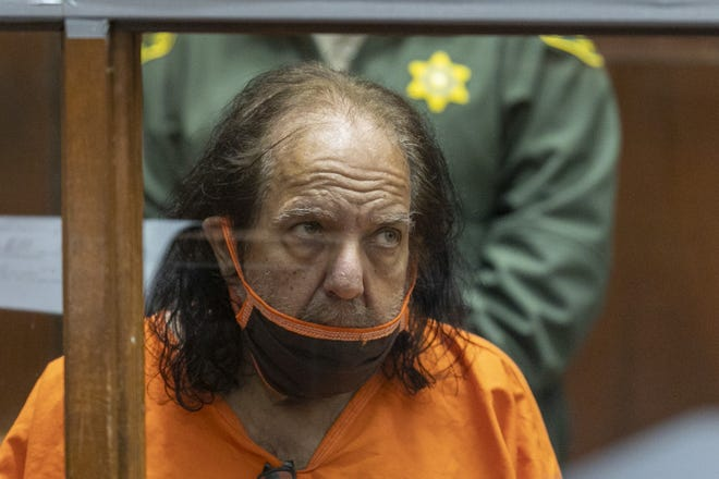 Ron Jeremy at arraignment on rape and sexual assault charges on June 26, 2020, in Los Angeles.