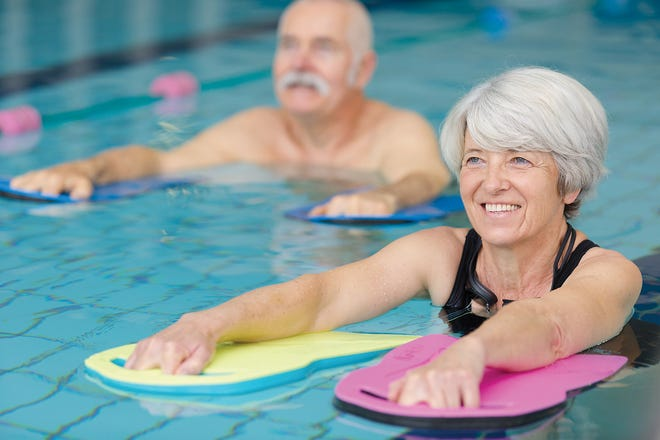 Water exercise is ideal for senior citizens with mobility issues.