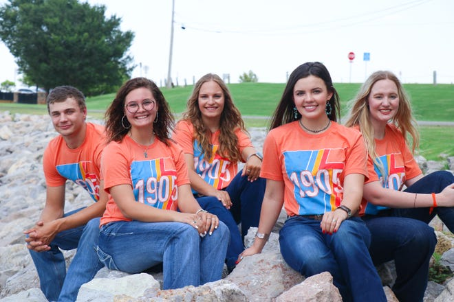Lone Grove FFA Vice-President Cassidy Baughman (far right) was recently elected to serve on the Oklahoma American Farmers and Ranchers State Youth Advisory Council. The five member council from left to right: Jace James, Paike McNeil, Katelyn Blevins, Abby Bell, Cassidy Baughman.