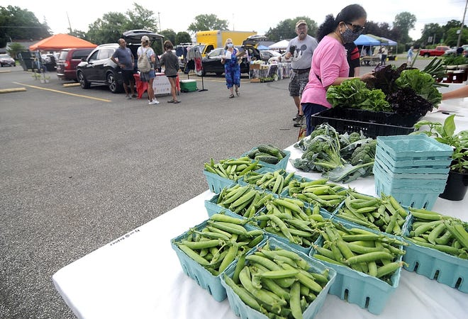 The farmers market at Christ United Methodist Church runs every Saturday through Oct. 10.