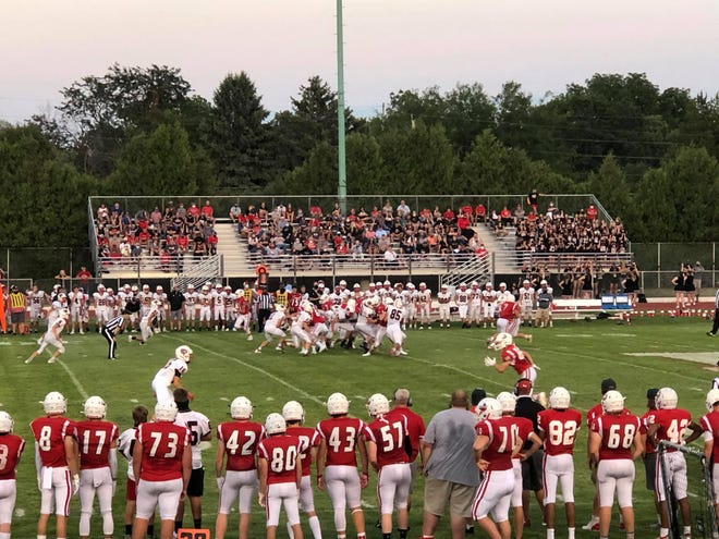 The Toreadors' first football game of the season resulted in a 7-0 loss to Creston/Orient-Macksburg at Goeppinger Field Friday, Aug. 28, 2020.