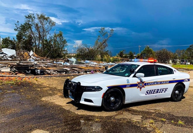 The Lafourche Parish Sheriff's Office deployed deputies to Lake Charles to help the Calcasieu Parish Sheriff's Office with security and patrol operations.
