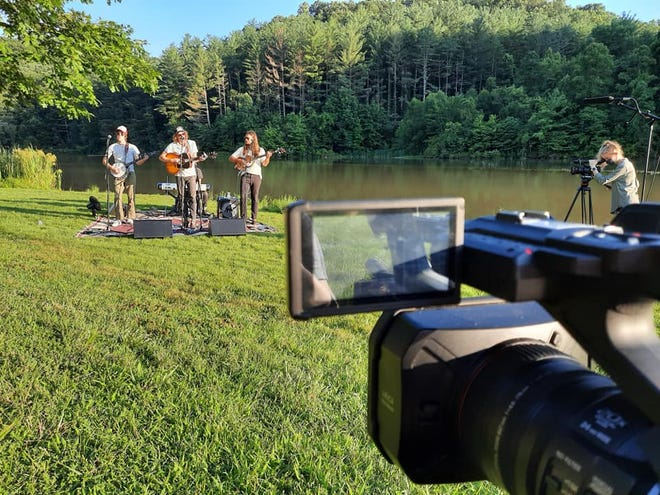 OHIO students, recent grads, faculty and WOUB Public Media Staff collaborate on producing the Virtual Nelsonville Music Festival, filming local and regional bands.
