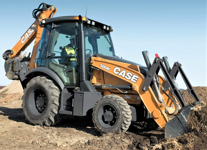 Knox Township used a federal grant and a loan to purchase a new Case backhoe for road maintenance and other projects around the community.