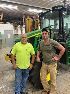 Tim Wilson, left, was celebrated for his 23 years of service to Plain Township, and his replacement Joe Morris, was introduced to the community at an open house last Friday.