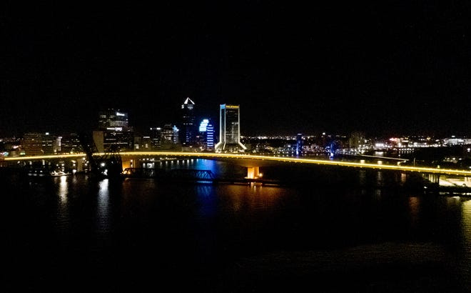 The Acosta Bridge's new LED lights glow gold this week in support of National Childhood Cancer Awareness Month, an initiative led by the Tom Coughlin Jay Fund Foundation.