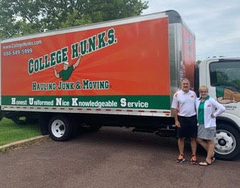 Cos and Mary Anne Losco, owners of College HUNKS Hauling Junk and Moving BucksMont, recently provided moving and junk hauling services for a local family in partnership with A Woman's Place.